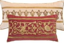 Antique Embroidery Pillows by B. Viz / When I find a wonderful antique textile, I feel a palpable connection to the history of the time of its creation and of the hands that crafted it. I marvel at the dedication and patience involved in creating such intricate and tactile beauty.