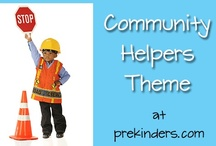 "Storytime Community Helpers / Picture Books and activities for Storytime. Includes Fire Fighters, Police and other career choices. See separate boards for Dentists and Doctors. ""Who are the people in your neighborhood..."""