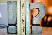 Bookends and Stacking Books / With a nod to all readers, and colleagues, who work with books. See also board for Library Displays. / by Jane McManus