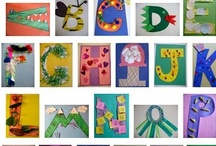 Storytime Alphabet Letters A-Z / Craft fun with letters. Those lines and circles mean something...