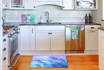 DiaNoche Designs Kitchen Decor / Add an artistic touch to your kitchen with Towels, Placemats and Cutting Boards from DiaNoche Designs. Choose from dazzling images, a striking pattern, or a bright pop of color to bring personality into your kitchen. www.dianochedesigns.com