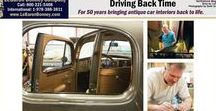 """DRIVING BACK TIME / READ the """"Driving Back Time"""" article by Northshore Magazine about how for 50 years, LeBaron Bonney Company has been bringing antique car interiors back to life."""