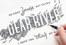 DESIGN | TYPOGRAPHY / Hand Styles, Fonts, Palettes, Usage, Typography, Graphic Design, Type,