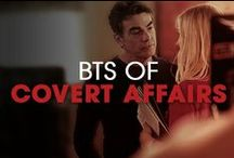 BTS of Covert Affairs / Behind-the-scenes shots and candid images of the cast and crew of Covert Affairs. / by Covert Affairs