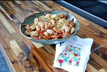 Dining In at the Beach / These easy-to-make seafood recipes don't use many ingredients, so they're ideal when you want to whip up a tasty, beach-inspired meal in your vacation condo or beach house rental kitchen.