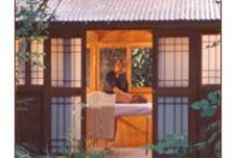 Pagodas / Receive your massage in one of our four Heated Pagodas nestled along Salmon Creek. Their walls are made of cedar & paper. Take note of the walk to and from the spa, feel truly in resonance with nature. / by Osmosis Day Spa