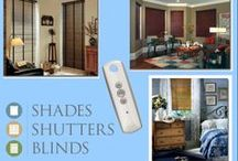 Motorized Blinds and Shades / What's better than a beautiful window shade? A beautiful window shade that opens and closes with the push of a button! The electric power of Motorized Blinds and Shades gives you ONE-CLICK POWER! #GetMotorized #SSB