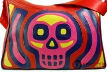 Cykochik Custom Handbags / Custom eco-friendly vegan leather bags featuring reversed applique designs with top stitching. Proudly handmade in Dallas, TX.  Customize and order @ www.custom-handbags.com