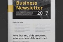 Newsletter Templates / Create an eye-catching newsletter fast with Lucidpress using our free newsletter templates. This simple newsletter template can be customized for your business or personal use.
