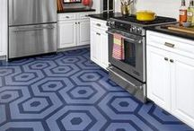 Stenciled Floors / Stenciled floors, stairs, rugs, and floorcloths. / by StencilSearch