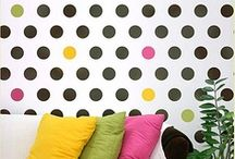 Polka Dot Stencils / Stenciled dots, spots, and circles. / by StencilSearch