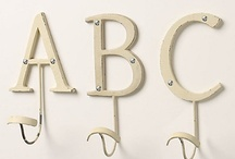 Letters / Letters, monograms, and/or typography for home decor