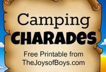 Camping With Boys / Tips, Recipes and Activities for a camping trip with kids.