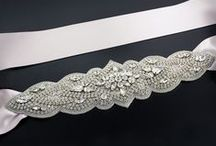 Bridal Sashes / Add sparkle to your dress with a crystal-embellished sash.