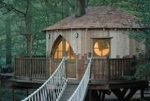 Tiny Homes in Trees :) / Tiny living in treehouses. :)