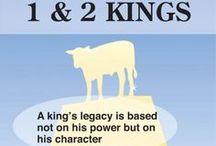 1 Kings,  2 Kings, 1 Chronicles, & 2 Chronicles