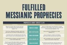 Messianic Prophecies / The Old Testament tells of a Messiah/Savior that would come.  Jesus fulfilled each of these prophecies.  The likelihood of just 8 of these being fulfilled by one person would be 1:100,000,000,000,000,000.   Jesus fulfilled hundreds of these prophecies.  We are assured that these prophecies were not conspired after the fact due to the Dead Sea Scrolls and Septuagint. These items existed prior to Jesus' time on earth.