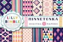 Lilly Bimble Freebies / Free Lilly Bimble Digital Papers, clipart and printables