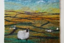 Felted pictures / Ideas and inspiration for experiments with felting.
