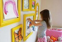 Kid's Art and Walls / Inspiration, color, mood setting, fine art, photography, posters, prints - Karen's Detail Custom Frames, Orange County, CA http://www.karenscustomframes.com