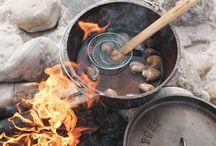 Outdoor cooking / Cooking. Koken. Buiten koken. Cooking outside. BBQ. Barbecue.