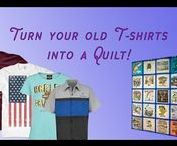 Quilting: I Make T-Shirt Quilts / Send us your T-shirts and we'll send you a quilt! www.TheQuiltRambler.com or www.quiltsnkaaboodle.com