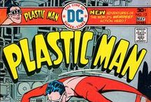 Plastic Man / ...is a fictional comic-book superhero originally published by Quality Comics and later acquired by DC Comics. Created by writer-artist Jack Cole, he first appeared in Police Comics #1.