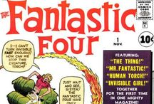 Fantastic Four / ...is a fictional superhero team appearing in comic books published by Marvel Comics and created by writer-editor Stan Lee and artist/co-plotter Jack Kirby.  / by Comic Iconography