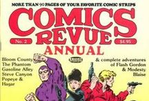 Comics Revue / ...is a bi-monthly small press comic book published by Manuscript Press and edited by Rick Norwood.
