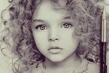 Feast your Eyes•♥♡ / Beautifully drawn..pencil, coloured pencils ... captured!!
