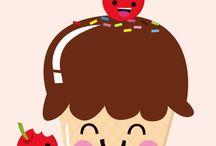 Cute & Kawaii Doodles / cute, kawai, kawaii, japanes, manga, chibis, fimo, drawings,