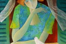 Art: Portrait with Torso / by Sue Rhodes