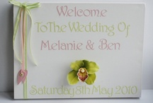 Wedding Welcome Canvas / Welcome your wedding guests in style with these beautiful canvasses! / by Beadazzle Designs