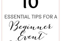 Event planning for Beginners / To gather and share great contents, ideas and tips about event planning from finding the best venue, to plan the event... plus social media tips/ emergency kits and so much more...