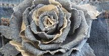 """Recycled jeans / Trendy bags, jewelry, accessorries or piece of furniture made of old jeans or """"spijkerbroek"""""""