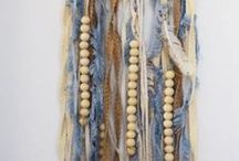 Fringe, tassels, feathers and pompons / Lovely items as jewelry, boots and bags with fringe, feathers, fur and pompons