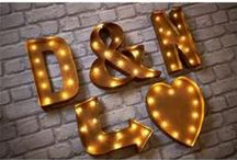 Carnival Light Up Letters | Marquee Letters | Carnival Letters / These illuminated alphabet letters and symbols make a fantastic statement to any room. Ideal for weddings or events, they make just as much impact in the home also. They just scream fun and are a great way to add personality to your big day.  Whether you want to spell out your names or initials, spell out words. Include hearts and stars or even arrows in bright bold lights to point your guests in the right direction.