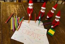 Ideas for Creative Scout Elves / Some of your scout elf's favorite hiding spots are ones that are crafty and quick! All you need to do is leave out the supplies and watch the magic unfold!