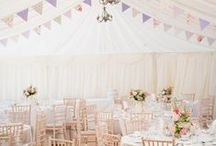 Marquee Wedding Flowers / A collection of gorgeous wedding flower ideas inspiring brides looking for marquee wedding flowers and decorations