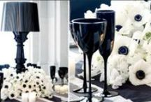 Black & White Wedding Flowers / A collection of gorgeous wedding flowers ideas inspiring brides looking for black and white wedding flowers