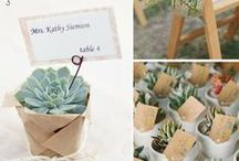 Succulents for Wedding Flowers and Decor / A collection of gorgeous wedding flower ideas inspiring brides looking for ways to use succulents in wedding flowers and decorations