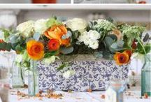 Orange Wedding Flowers / A gorgeous collection of inspiring ideas for brides looking for inspiration for orange wedding flowers and decorations