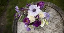 Purple Wedding Flowers / A gorgeous collection of inspiring ideas for brides looking for inspiration for purple wedding flowers and decorations
