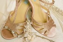 Shoes + Accessories / All the pretty details that you get to wear on the big day: jewelery, shoes, and hair accessories