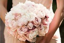 Blush Pink Wedding Flowers / A collection of gorgeous wedding flowers ideas inspiring brides looking for blush pink bouquets and wedding flowers and decor