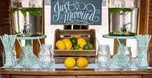 | drink station florals | / A collection of gorgeous drinks ideas inspiring couples looking for wedding drinks