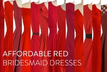 Red Bridesmaid Dresses / by WeddingLovely