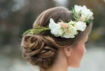 |  hair flowers for weddings | / What sort of flowers could you have in your hair? Flower crowns, flower circlets, single large roses, small dainty flowers, floral headbands.