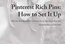 Pinterest Tips / Pinterest tips and tricks for small business owners looking to expand their brands on Pinterest.