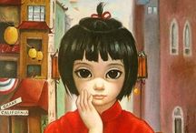 "Margaret Keane's ""Big Eyes"" Artwork"